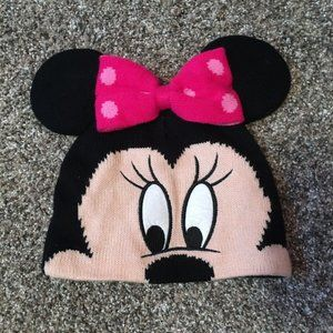 Minnie Mouse Beanie With Ears And Bow